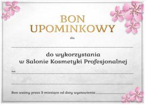 Bon upominkowy w Salon Kosmetyki Profesjonalnej na zabieg kosmetyczny